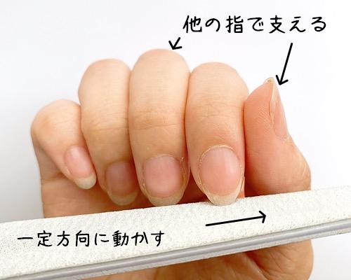 爪の削り方