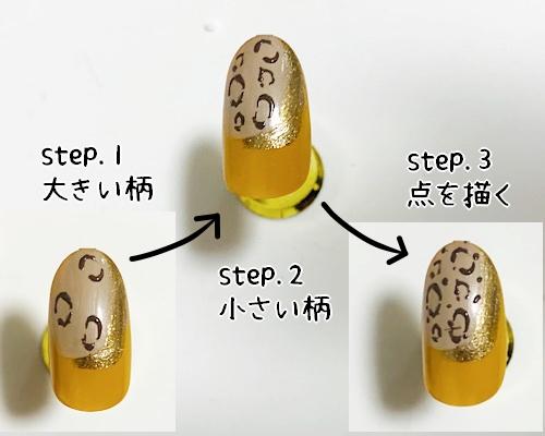 3ステップで柄を描く